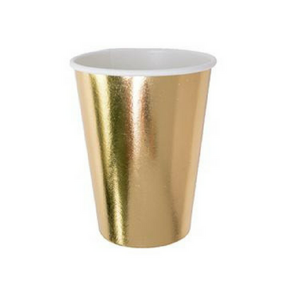 gold paper cup
