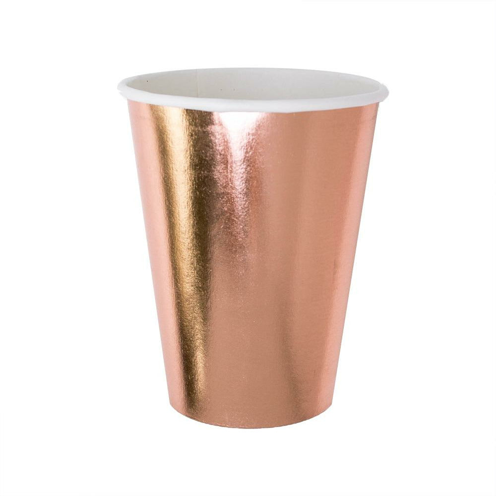 rose gold paper cup