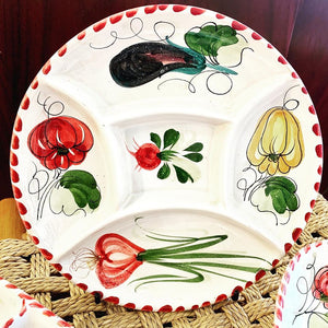1960s Made In Italy Handpainted Dishes