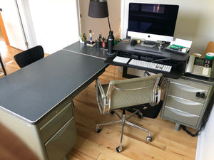 Vintage Tanker Desk with Return