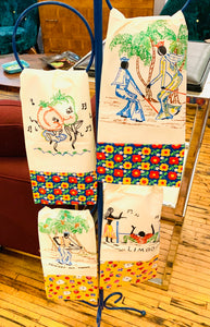 Set of 4 Souvenir Tea Towels