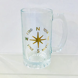 Compass Theme Beer Mug