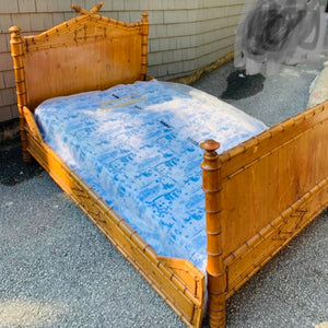 19th Century French Faux Bamboo Day Bed