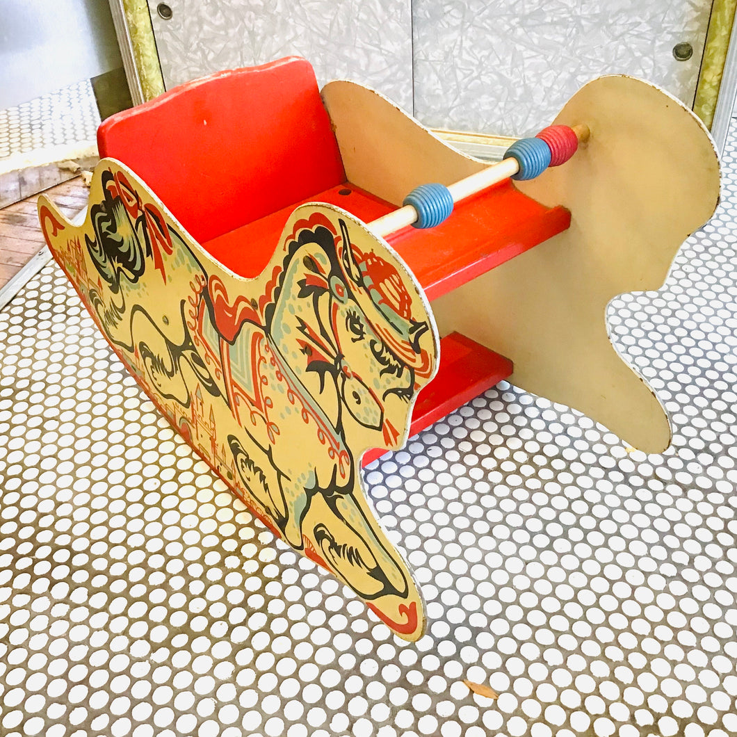 Vintage 1950s Child's Rocking Horse Chair