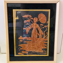 Load image into Gallery viewer, Vintage Copper Relief of Chinese Lady