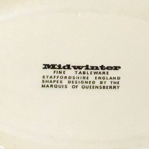 Midwinter Plate and Serving Dish