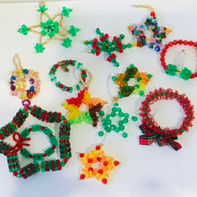 Load image into Gallery viewer, Handmade Beaded Christmas Ornaments