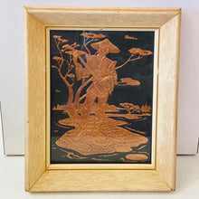 Load image into Gallery viewer, Vintage Copper Relief pair of Chinese Man & Lady