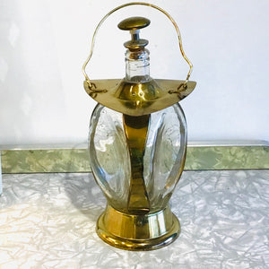 Vintage Brass Musical Novelty Decanter