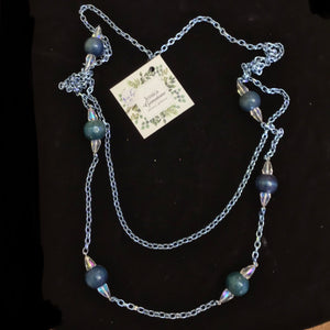 Blue Beaded Necklaces by Jessica Gemstone