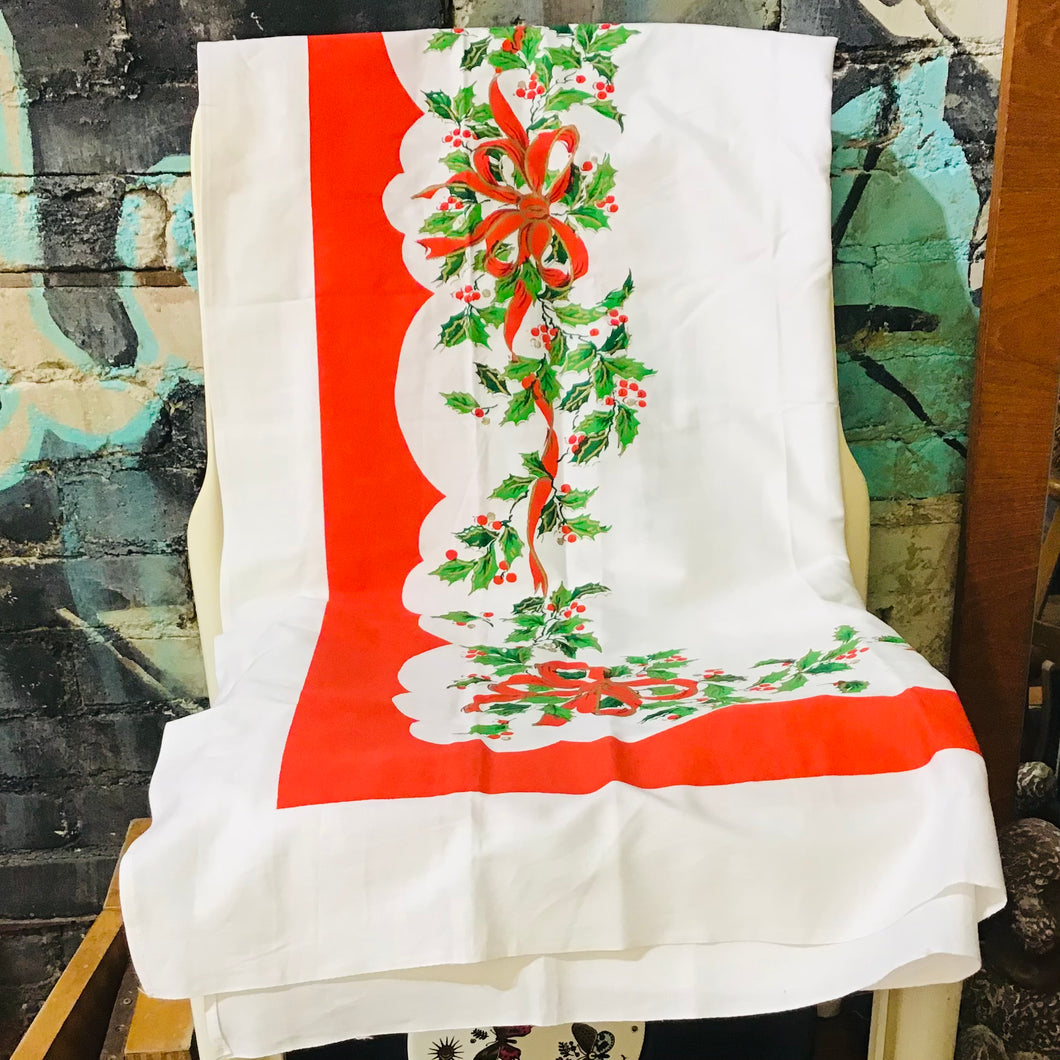 Deadstock Christmas Tablecloth