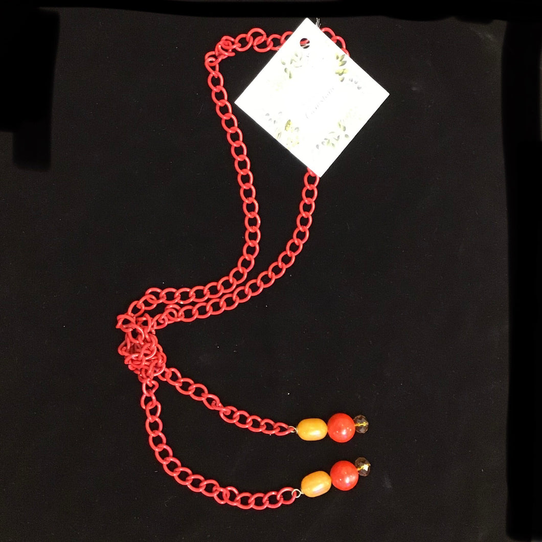 Red Beaded Necklaces by Jessica Gemstone