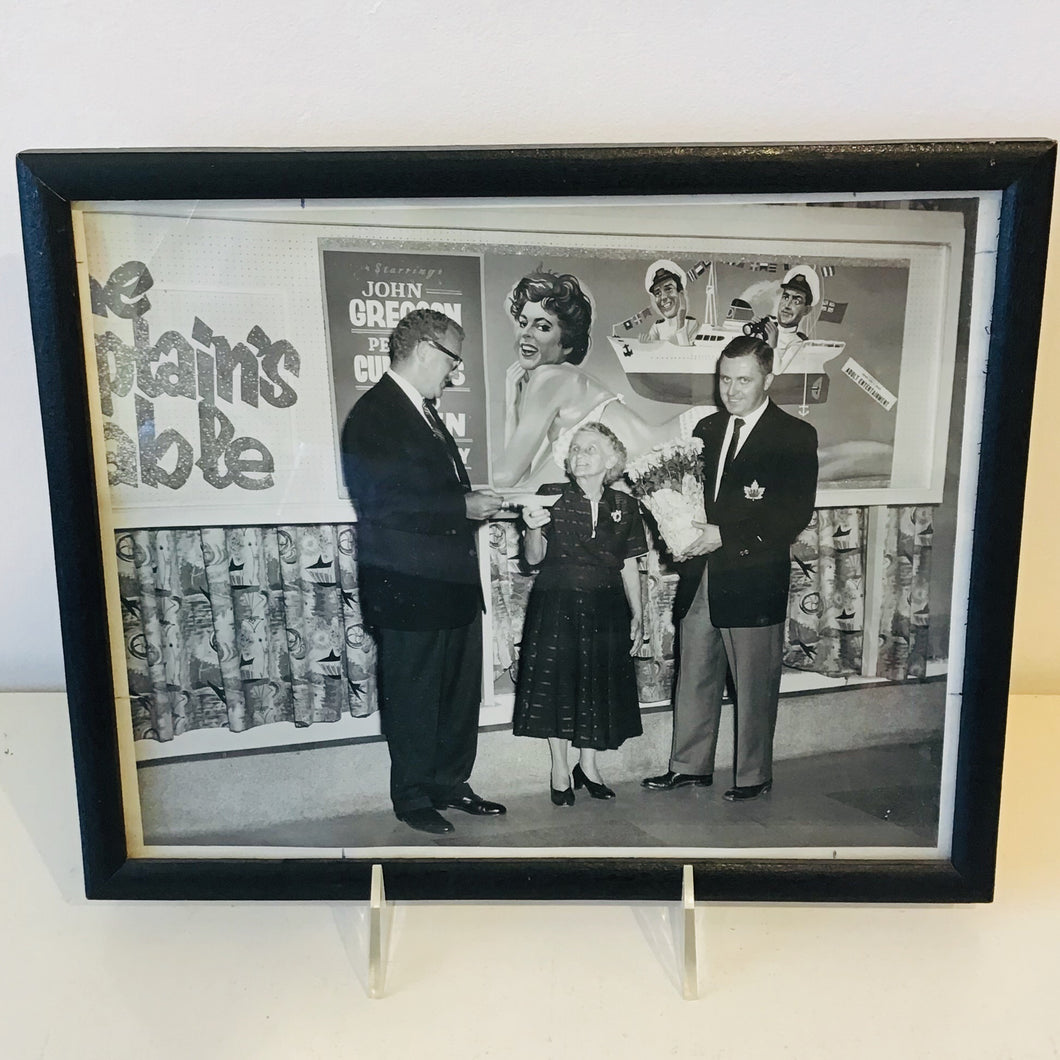 Framed Black & White Photograph