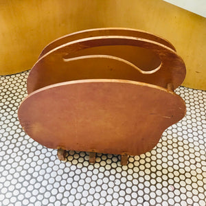 Art Deco Biomorphic Wood Magazine Rack