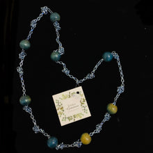 Load image into Gallery viewer, Blue Beaded Necklaces by Jessica Gemstone