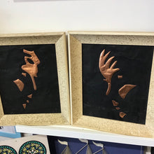 Load image into Gallery viewer, Vintage Copper Relief Pair of Shadowed Profiles