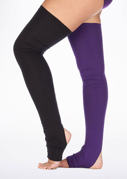 Dincwear Long Reversible Leg Warmers - Black/Purple