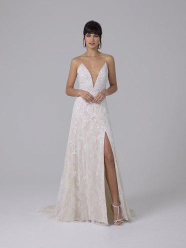 Liancarlo Spaghetti Strap Wedding Dress