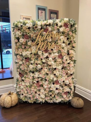 Nicol Floral Design made a custom floral backdrop