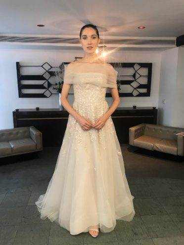 Liancarlo Cold Shoulder Wedding Dress