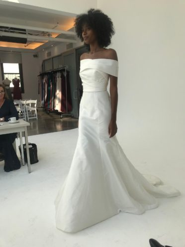 Amsale Cold Shoulder Wedding Dress