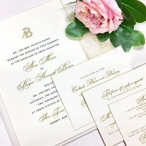 Cambridge Street Papers invitations and save the dates