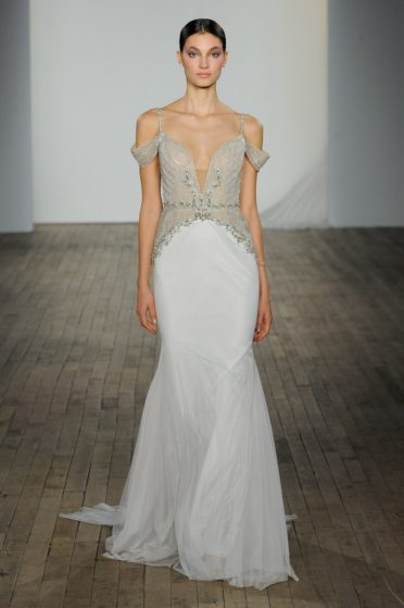 Hayley Paige Spaghetti Strap Wedding Dress