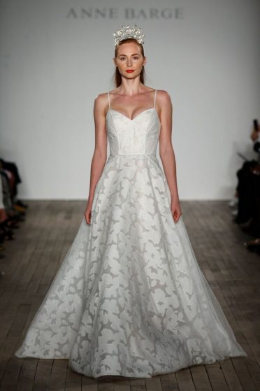 Anne Barge Spaghetti Strap Wedding Dress