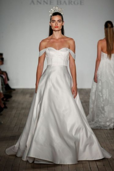 Anne Barge  Cold Shoulder Wedding Dress