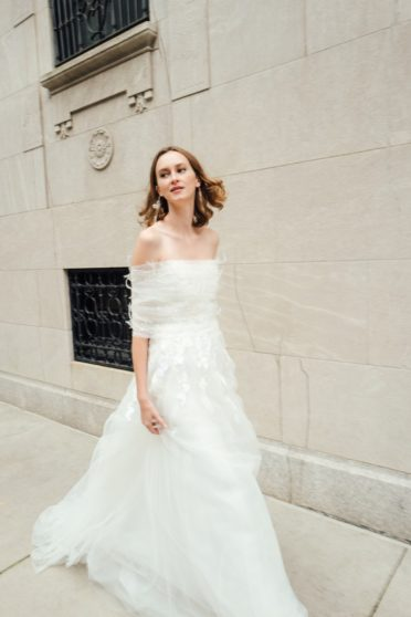 Mira Zwillinger Cold Shoulder Wedding Dress