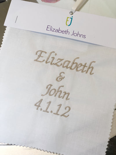 Elizabeth Johns Custom Monogram - Names & Date