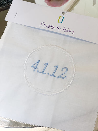 Elizabeth Johns Custom Monogram - Heart Circle & Date