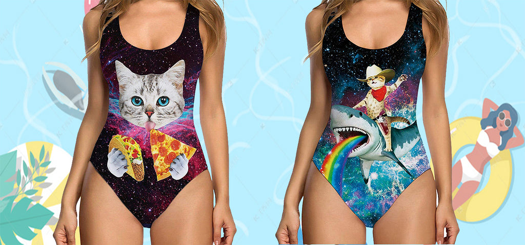 Cat One Piece Swimsuits