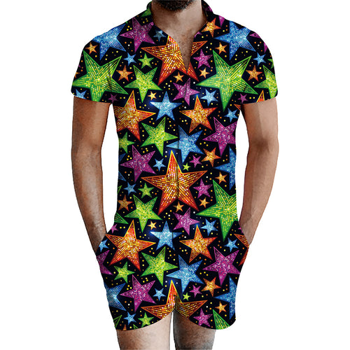 3D Print Abstract Star Mens Romper