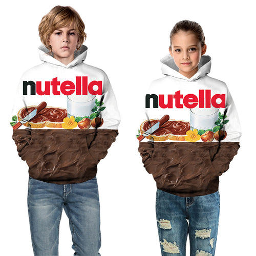 Kids Hoodie Food Nutella Baseball uniform