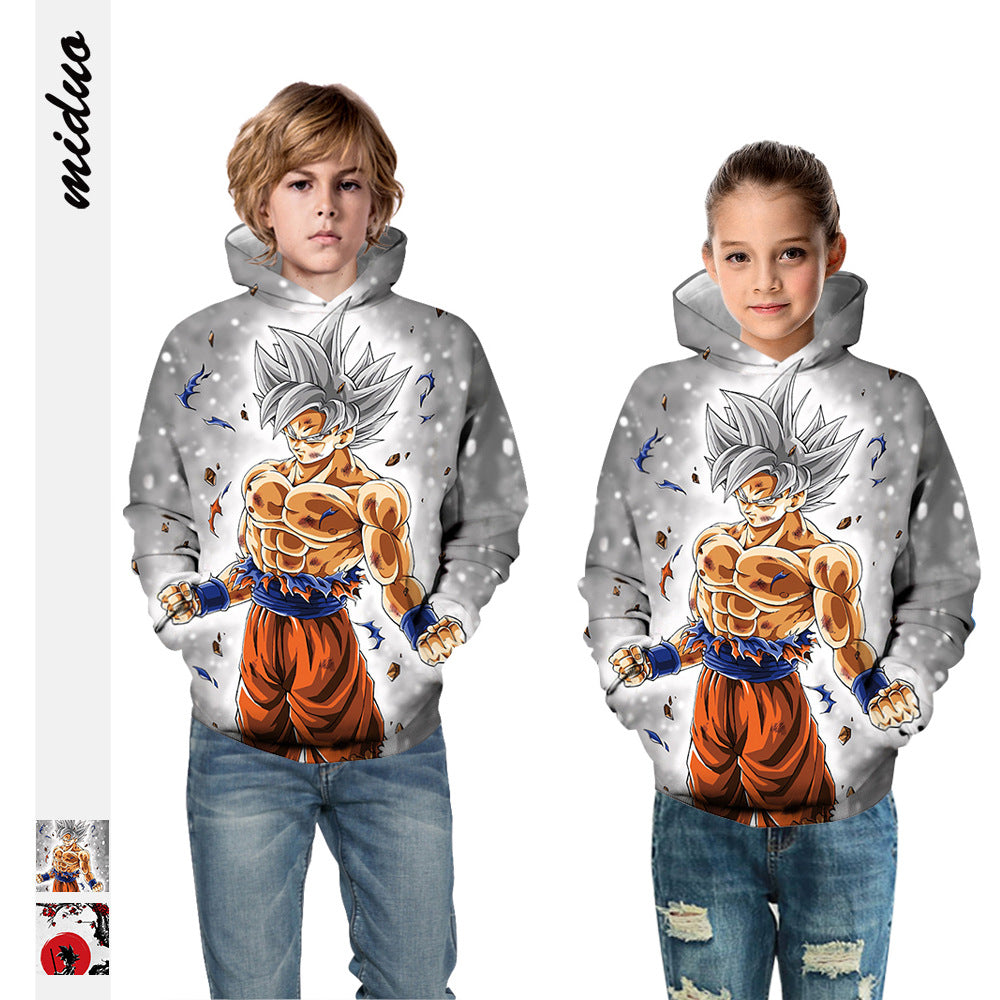 Kids Hoodie Dragon Ball Cool Man Baseball uniform