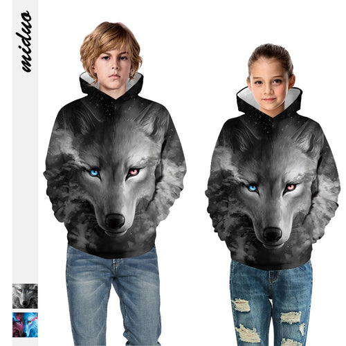 Kids Hoodie Black Wolf Baseball uniform