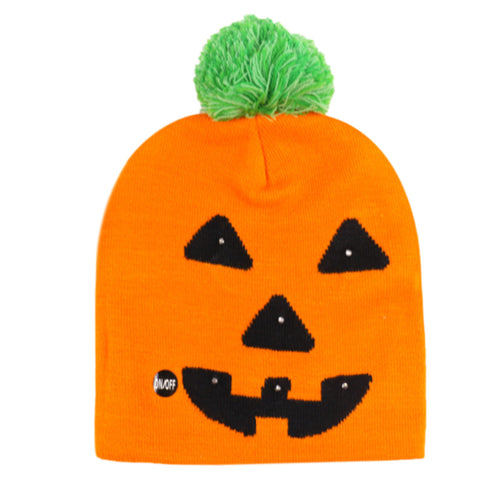 3D LED Halloween Red Beanie Hats