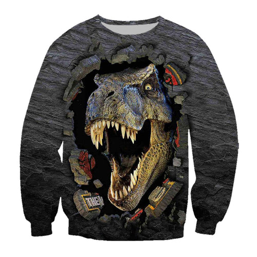 3D Print Jurassic Park Dinosaur Design Animal Men Sweatshirt