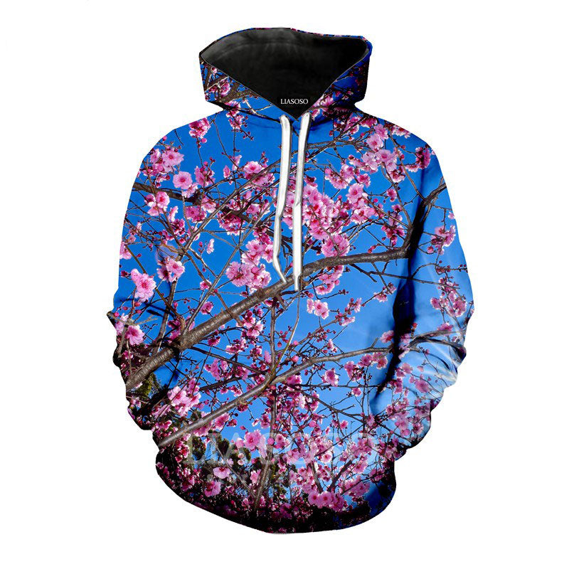 Plant Cherry Tree Floral 3d Print Hoodies