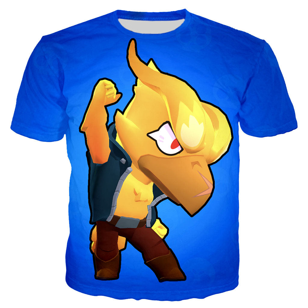 3D Print Game Brawl Stars Crow Skin Men T Shirt