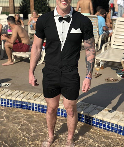 Tuxedo Beach Holiday Male Romper