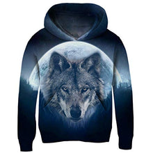 Load image into Gallery viewer, Boys Wolf Moon Hoodie Autumn Winter Casual Pullover Hoodie