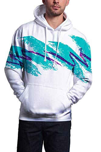 Uideazone Unisex 90s Paper Cup Design Hoodie