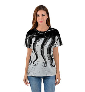 Uideazone 3D Octopus Print Fahsion Casual T-Shirt