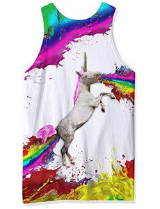 Graphic Unicorn Tank Top Rainbow Unicorn Sport Top