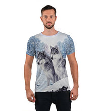 Load image into Gallery viewer, Uideazone Printed Forest Wolf Shirt Teen Casual Graphic Tee