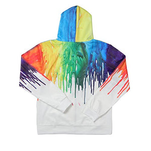 Uideazone Teen 3D Graffiti Painting Zipper Hoodie
