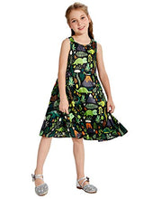 Load image into Gallery viewer, Girls Sleeveless Dinosaur Casual Floral Princess Dress