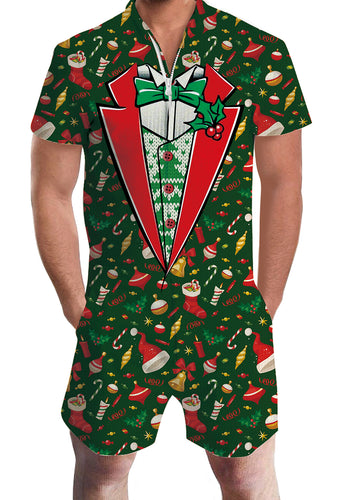 3D Print Christmas Tree Mens Romper